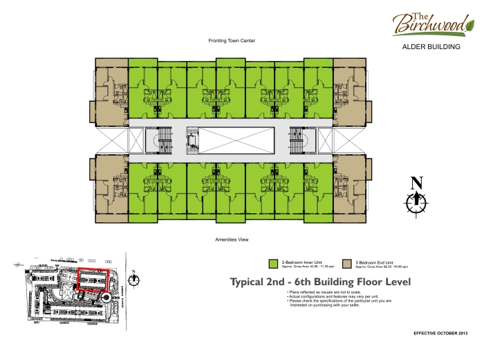 The Birchwood Typical 2nd- 6th Floor Level Floor Plan