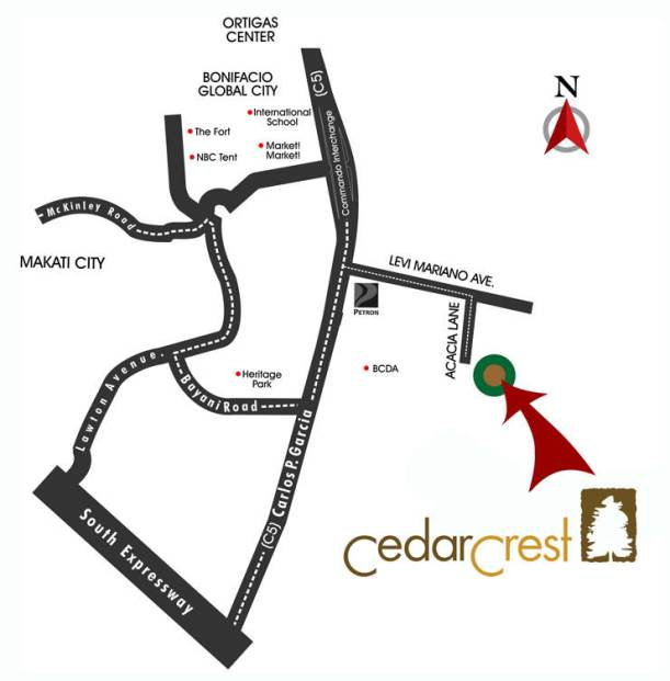 Cedar Crest Location map
