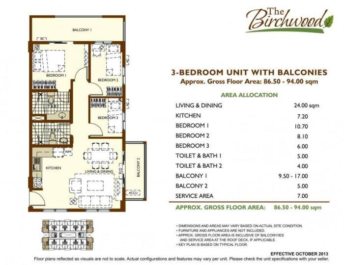 The Birchwood 3 bedroom with balconies A
