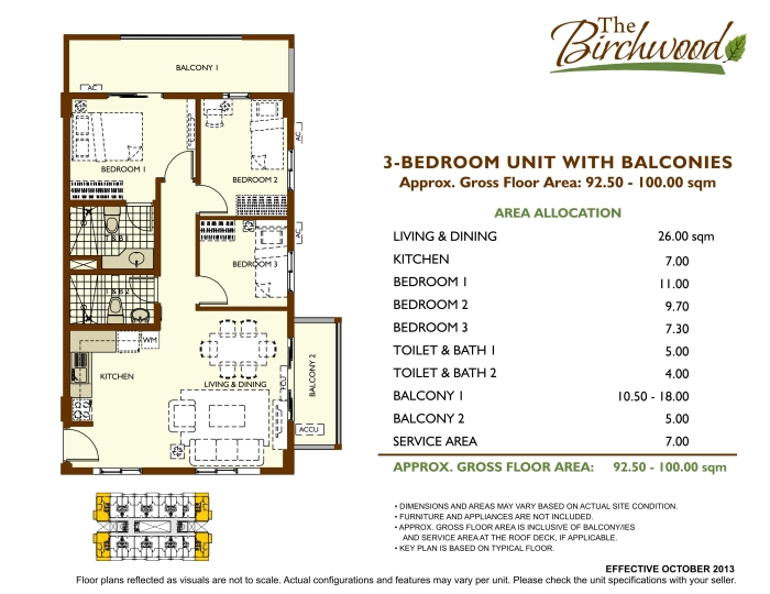 The Birchwood 3 bedroom with balconies b