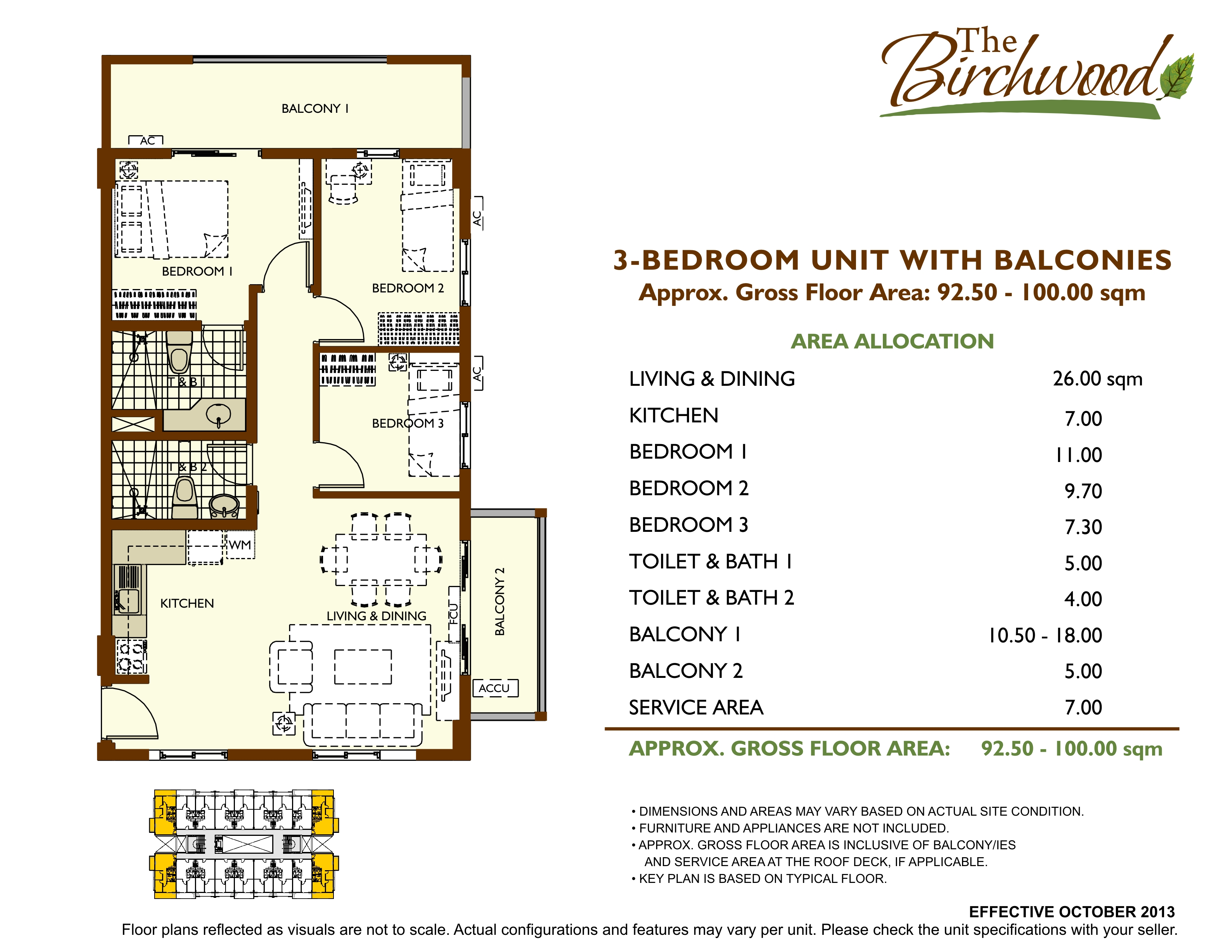 The birchwood unit layout acacia estates taguig by dmci The birchwood