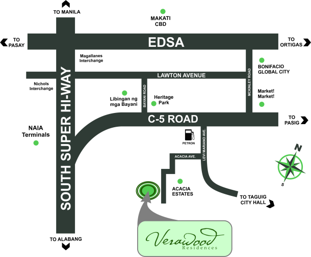 Verawood Residences Location map