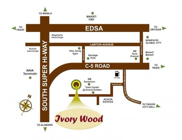 Ivory Wood Acacia Estates by DMCI Homes Location Map