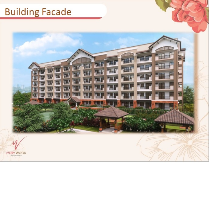 Building Facade Ivory Wood