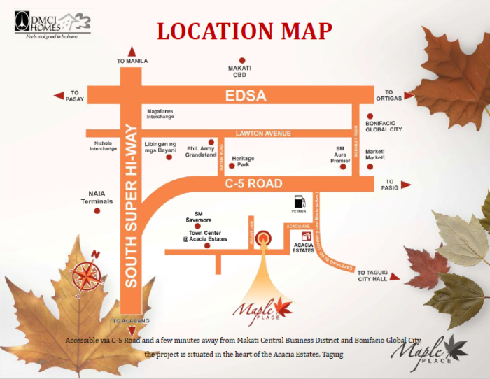 Maple Place DMCI location