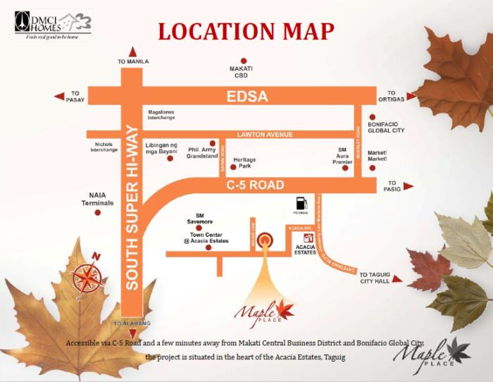 Maple Place DMCI location