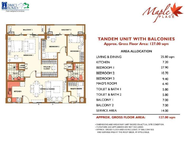 Maple Place Tandem Unit Layout