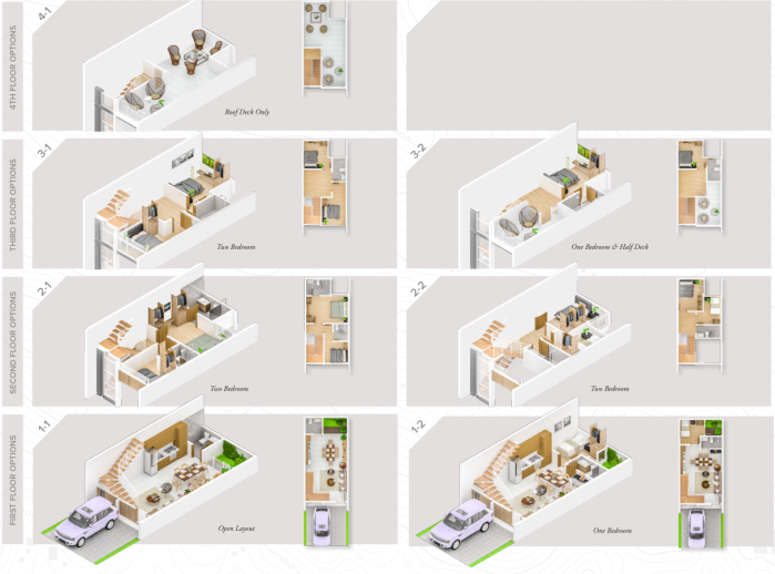 Aerin Townhouse Floor Layouts